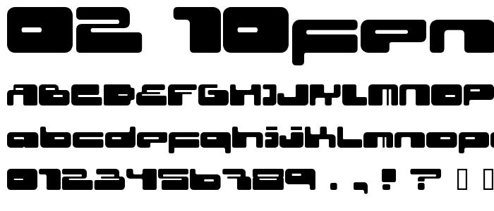 02 10fen font