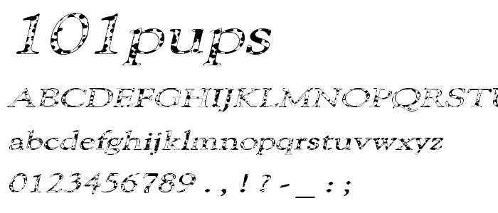 101pups font