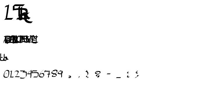 15tha font