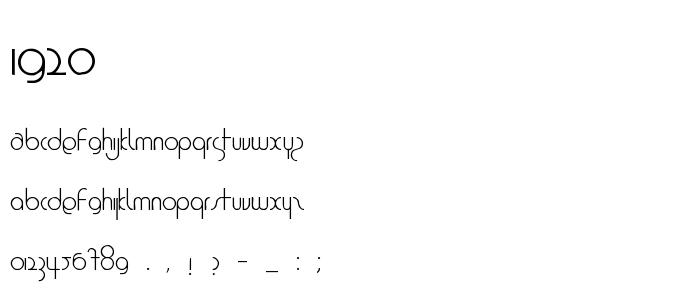 1920 font