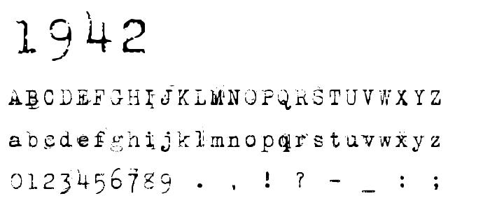 1942 font