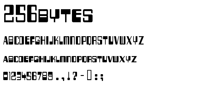 256bytes font