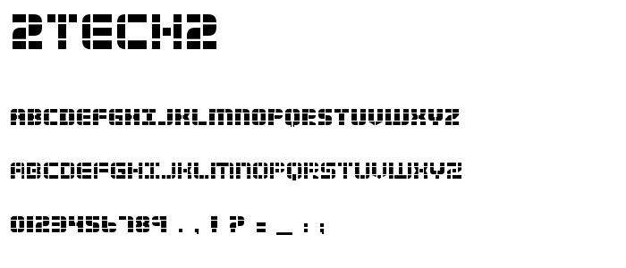 2tech2 font