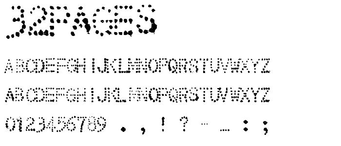 32pages font