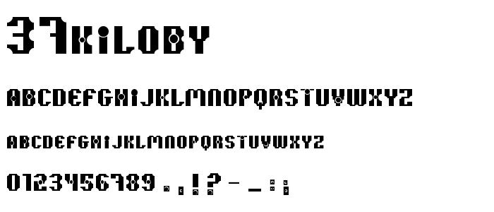 37kiloby font
