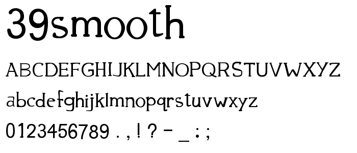 39smooth font