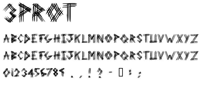 3prot font