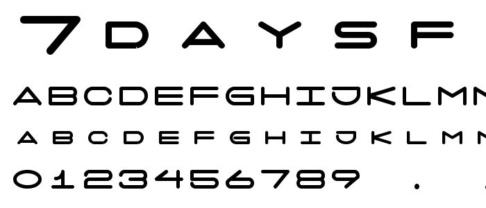 7daysfat font