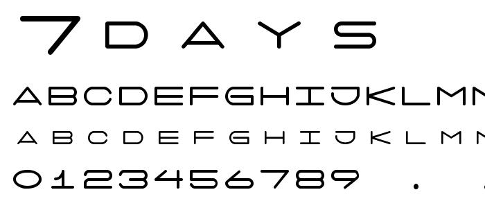 7days font