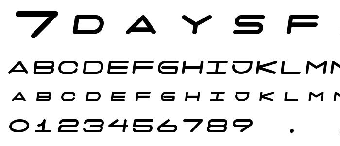 7daysfatoblique font