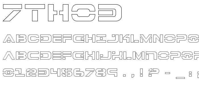 7tho3 font