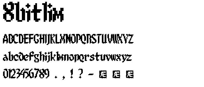 8bitlim font