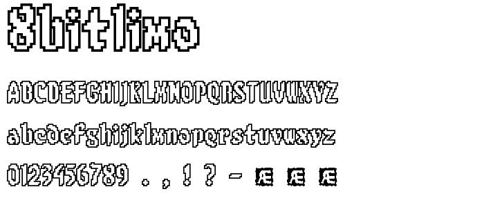 8bitlimo font