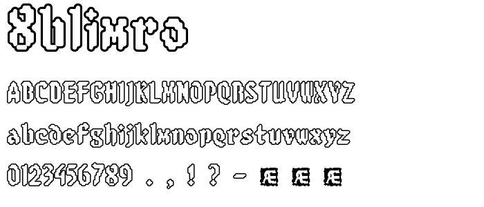 8blimro font