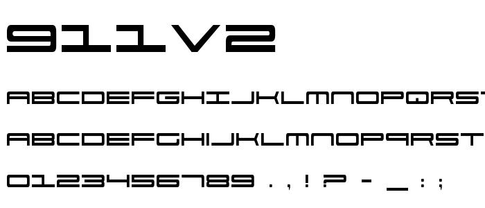 911v2 font