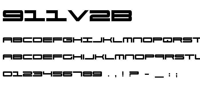 911v2b font