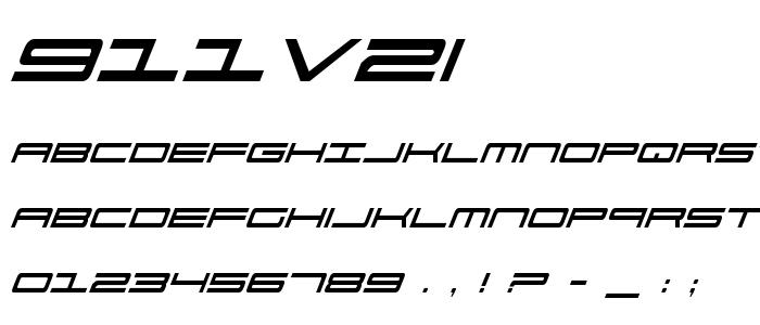 911v2i font