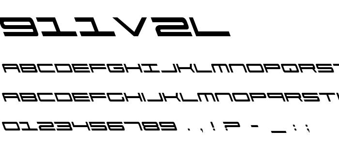 911v2l font