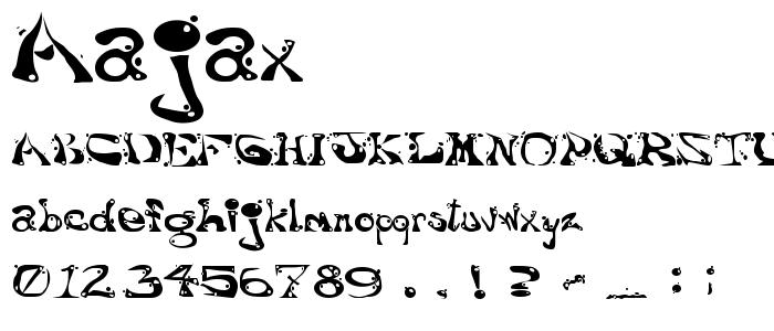 Aajax font