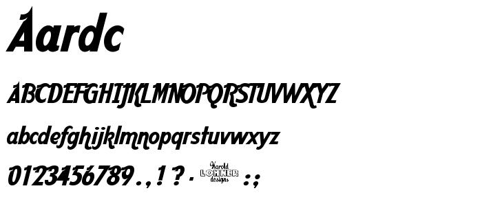 AARDC___.TTF font