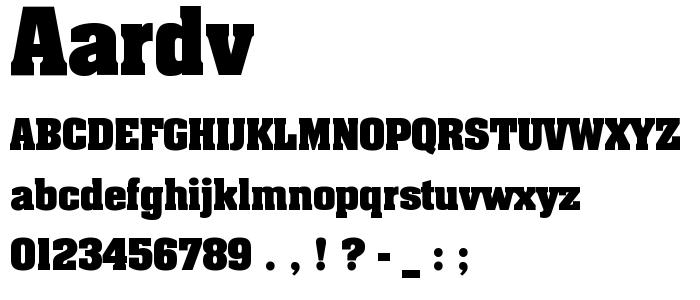 AARDV.TTF font