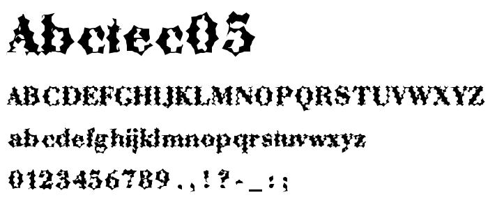 Abctec05 font