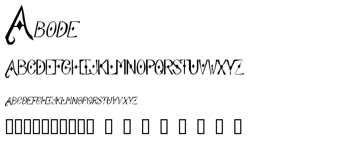 Abode font