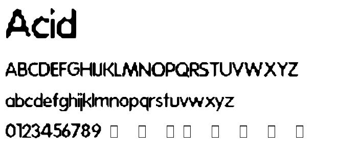 Acid font