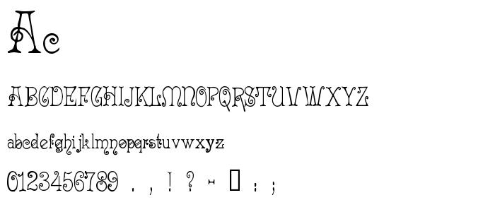 Ac font