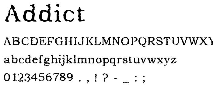 Addict font