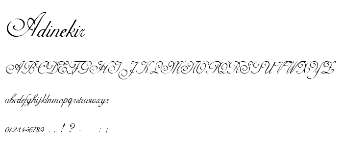 Adinekir font