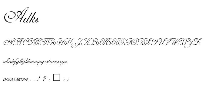Adks font