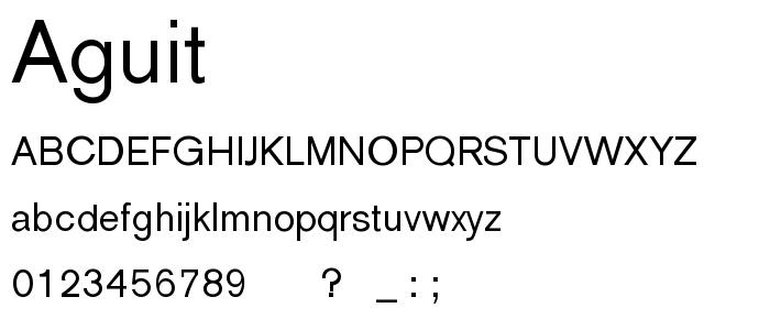 Aguit font