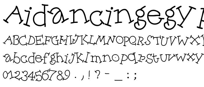 Aidancingegypt font