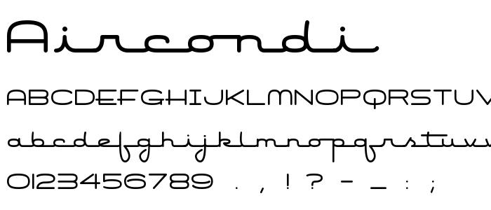 Aircondi font
