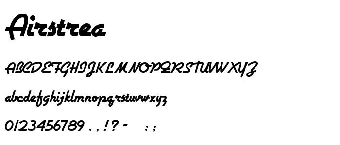 Airstrea font