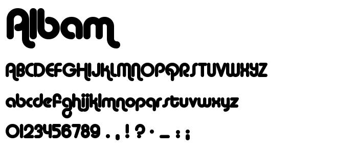 Albam font