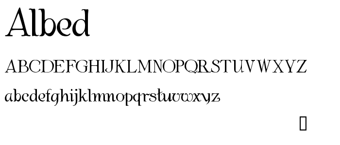 Albed font