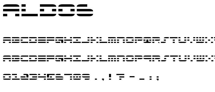 Aldo6 font