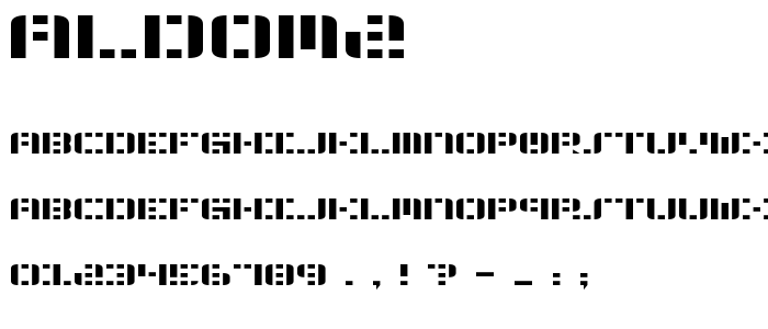 Aldom2 font