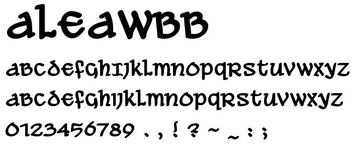 Aleawbb font