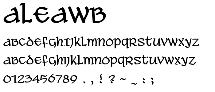 Aleawb font
