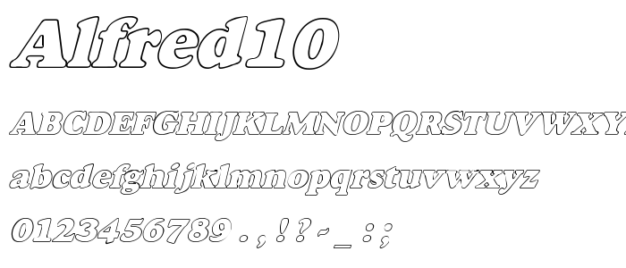 Alfred10 font