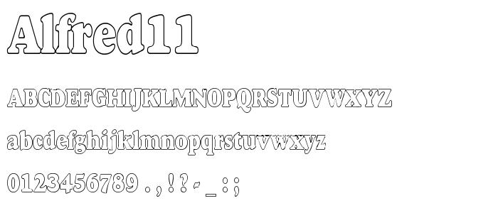 Alfred11 font