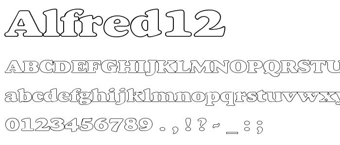Alfred12 font