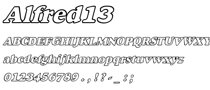 Alfred13 font