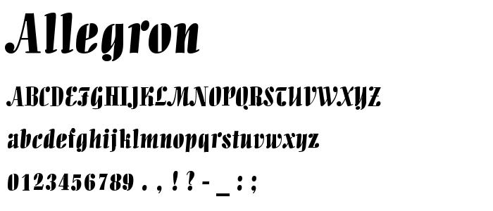 Allegron font