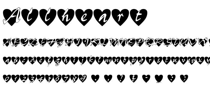 Allheart font