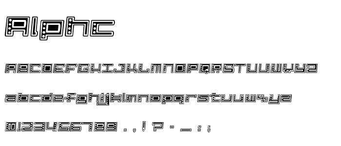 Alphc font