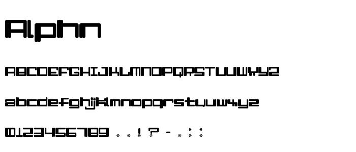 Alphn font